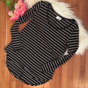 Nordstrom BP Stripe Long Sleeve Top Sz XL